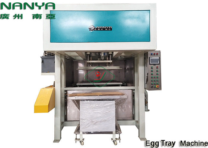 Eco - Friendly Waste Paper Pulp Egg Carton Machine With Dryer / Egg Tray Forming Machine